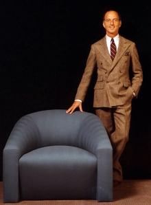 Angelo Donghia and Volume Chair circa 1970's