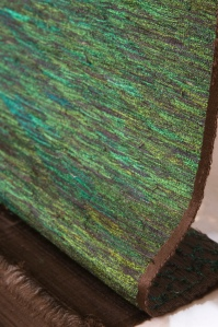 Woven Peacock Feathers at Donghia- No peacocks were harmed!!